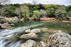 Filling the Pool... (mr3wan) Tags: nature water colors rain clouds creek canon austin march spring moody texas hiking falls flowing storms singlehdr fhdr