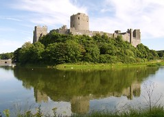 Pembroke Castle 1 (Athena's Pix) Tags: bridge blue sky panorama white building green castle heritage history tourism wales architecture clouds pembroke scenery europe westwales view wildlife towers royal ducks location medieval swans restoration cave earl birthplace welsh fowl fortification stronghold fortress middleages impressive touristattraction preservation cleddau compactcamera henryvii cadw englishkings pembrokecastle henrytudor surroundedbywater earlofpembroke landscapesofvillagesandfields historyofwales castlellation pembroketown