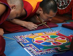Sand mandala (David Stephensen) Tags: art colours buddhist religion australia victoria monks tibetan meditation bendigo sandmandala centralvictoria