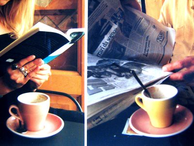 Woman books Coffee on http://liiviantalossa.blogspot.com/