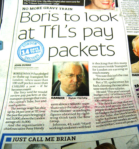 TfL paycuts from Boris