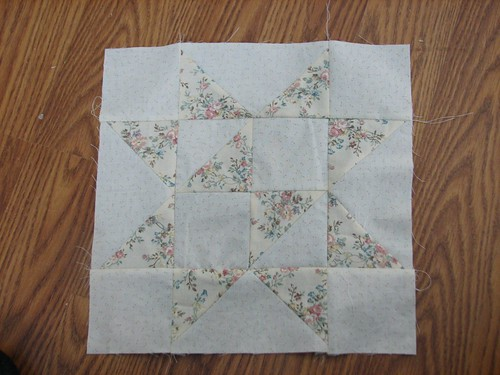 quilt along star - block #1