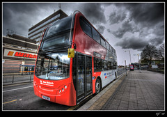 Alexander Dennis Enviro 400 (rjt208) Tags: new uk greatbritain travel blue red england white west bus college public buses canon eos grey skies technology britain wheels transport perspective arts double technical alexander dennis soe hdr walsall midlands psv decker wilkinson livery blackcountry tonemapped tonemapping 400d platinumphoto anawesomeshot 4773 theunforgettablepictures rjt betterthangood rjt208 bigpicture2008
