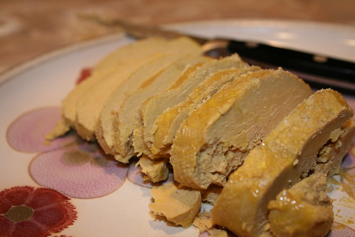 Salted Foie Gras all sliced up