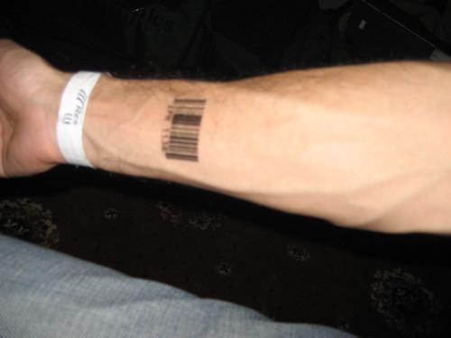 barcode tattoo. arcode tattoo designs.