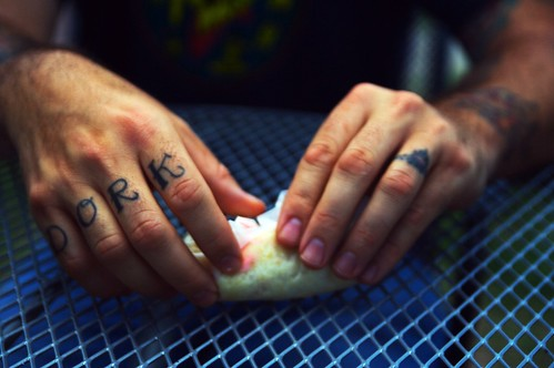 Dork knuckle tattoo (Austin) | Flickr - Photo Sharing!