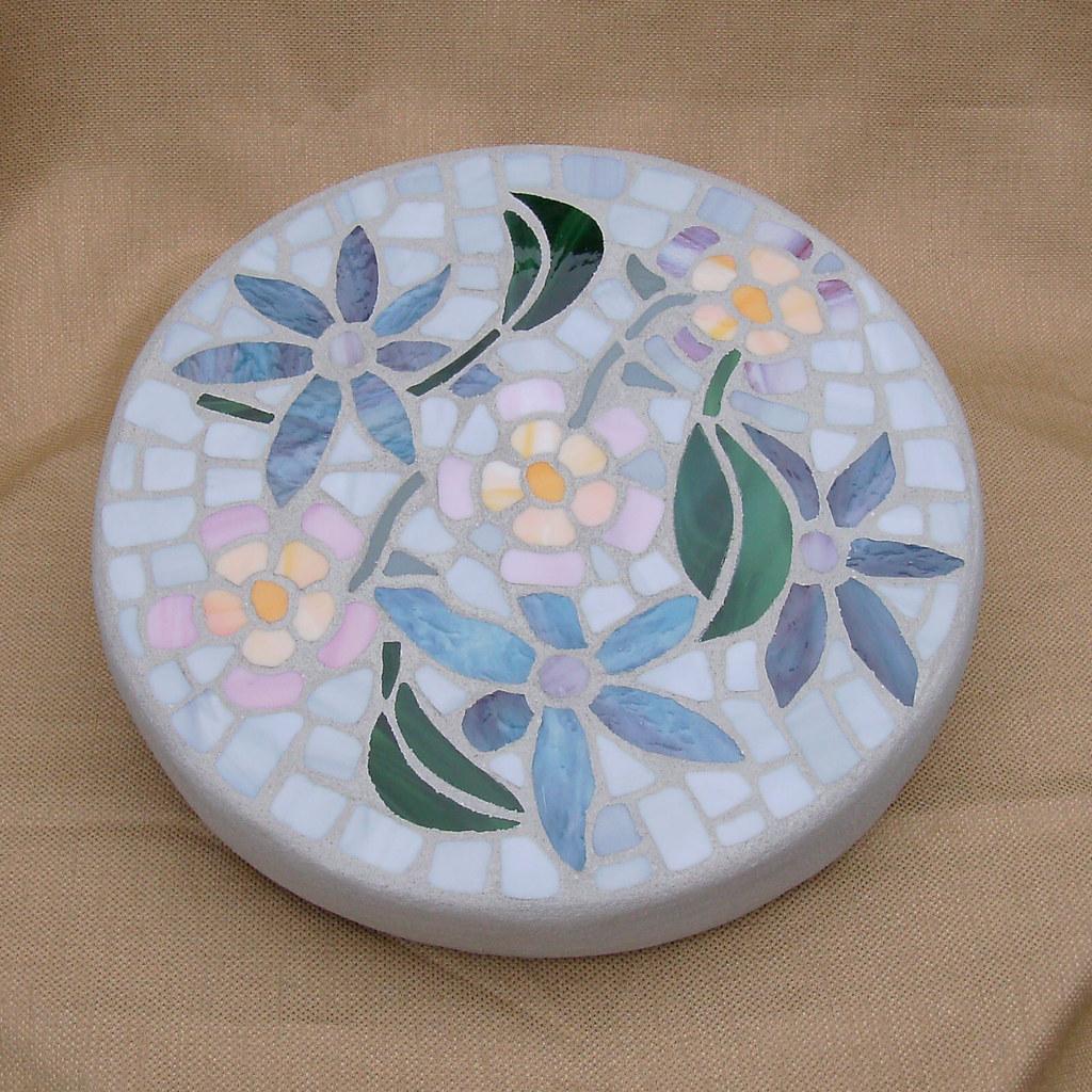 Tropical Flowers Garden Stone