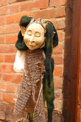 The face of the puppet is made from terracotta