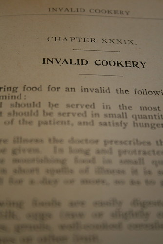 Invalid Cookery