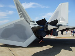 Ass end of an F-22 (cjo1961) Tags: flying fighter aircraft aviation military combat usaf warplane usairforce aeronautics militaryaviation flyingmachine combataircraft aircombatcommand aeronatical 10millionphotos lockheedmartinf22