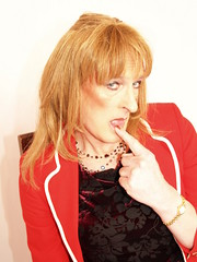 Julie 06-02-2008 280 (Julie Bracken) Tags: old red portrait fashion hair tv cd mini skirt crossdressing tgirl transgender mature tranny transvestite crossdresser crossdress kinky tg trannie mtf m2f feminized enfemme xdresser tgurl feminised transsister julieb85