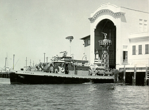 Fireboat No. 2 and Firehouse No. 112, around 1955