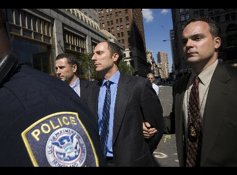 Michael Tannin of Bear Stearns being Perp Walked (from Wall Street Fighter)