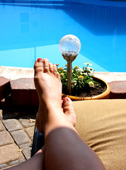 Day 344: Poolside FUTAB (<3~Kristin~<3) Tags: woman selfportrait feet me water pool female foot toes legs lounge relaxing sp poolside chillaxin loungechair selfie 365days itsfriday futab gtwl putyourfeetuppeople