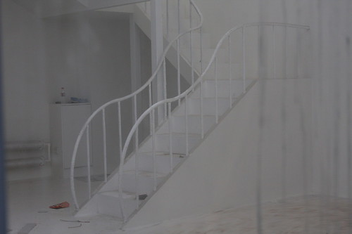 white steps under construction