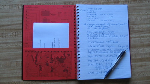Black n' Red Lab Notebook with TUL Gel Pen