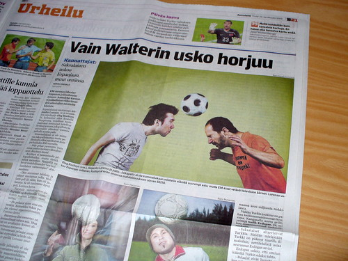 Aamulehti article about forthcoming football match between Russia and Spain