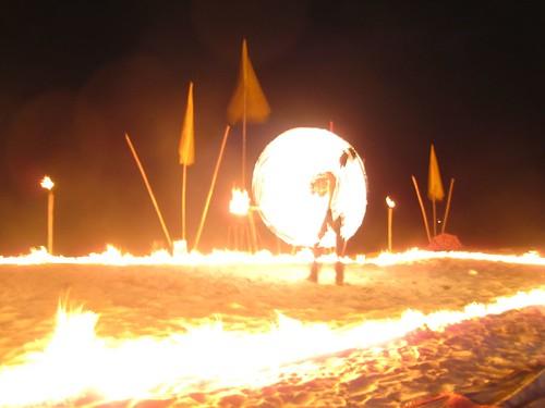 Fire dancer (long exposure)