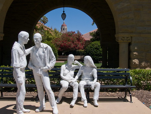 Gay Liberation Sculpture by George Segal. Stanford University Campus - Palo ...