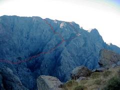 Versant Ghjarghjole - Silvastriccia : voies de descente