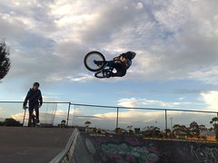 taybo yarraville (corlessdylan) Tags: park dylan table bmx ride top melbourne riding skate yarraville corless taybo
