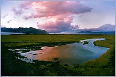 A colourful sunset in Iceland (tigrić) Tags: autumn sunset reflection nature landscape iceland september route1 explore84