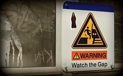 jar jar binks at the train station (theskywatcher) Tags: starwars sticker stickers trainstation warningsign photoproject jarjarbinks jarjar theforceisstrong