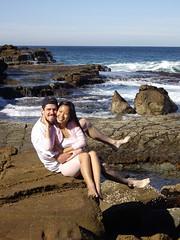 Cute couple on the rocks :) (Mai Anh & Nico) Tags: beach nico garie maianh