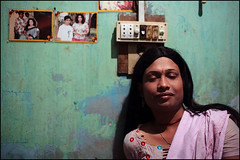 Borsha Hijra - Bangladesh (Maciej Dakowicz) Tags: gay portrait male home asia transgender transvestite homosexual bangladesh gender transsexual hijra
