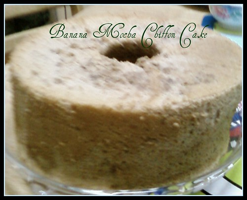 Mocha Chiffon Cake With Fruit Stick Decoration