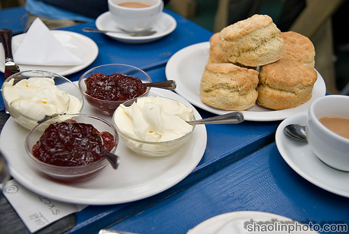 Cream Tea at Dunster