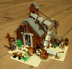 Bullion Hills Mining Co. (.) Tags: mine lego mining western panning wildwest sluice shaft goldrush motherlode
