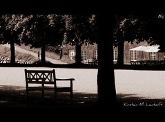 For a peaceful sunday (Kirsten M Lentoft) Tags: trees house sepia copenhagen bench denmark shade kastellet firstquality platinumphoto momse2600 skadow theperfectphotographer multimegashot kirstenmlentoft
