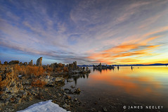 Mono Lake Sunrise (James Neeley) Tags: california nature sunrise landscape nikon monolake tufa hdr d300 leevining 5xp flickr7 ultimateshot jamesneeley