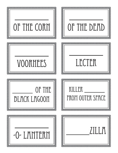 halloween name tags - cup markers 2