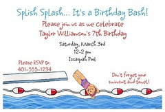 Pool Party Invitations (Kid's Birthday Parties) Tags: birthday party summer kids swimming swim children summerparty invitations poolparty kidsparty themeparty kidsbirthday swimparty partytheme birthdayinvitations personalizedinvitations poolbirthdayparty swimbirthday