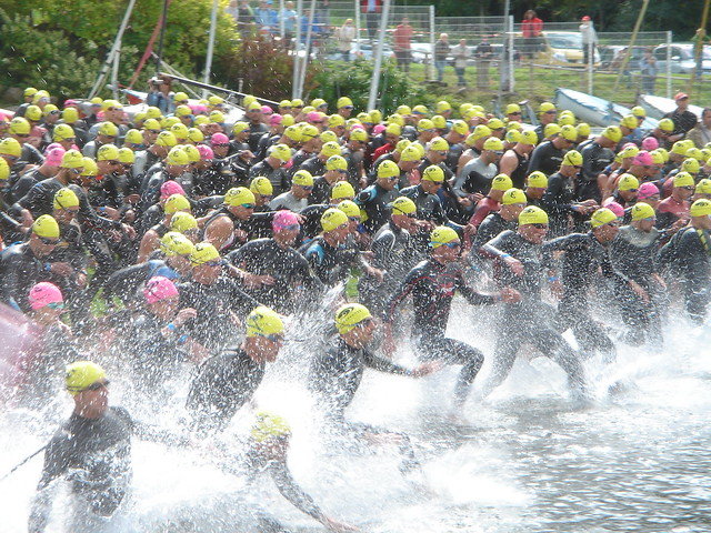 Triathlon Gerardmer - start swimmers