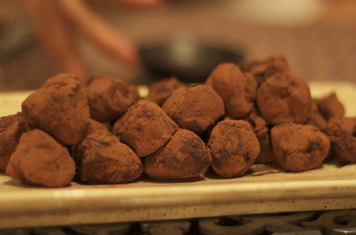organic chocolate truffle