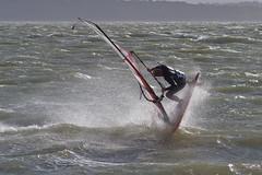 Nose Dive (me'nthedogs) Tags: hampshire spray solent windsurfer leeonthesolent nosedive