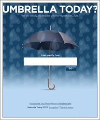 Quicken Loans DIFF blog loves the simplicity, mobility of www.UmbrellaToday.com by whatsthediffblog, on Flickr
