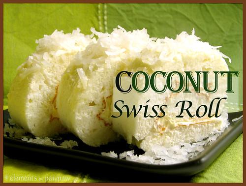 Coconut Swiss Roll
