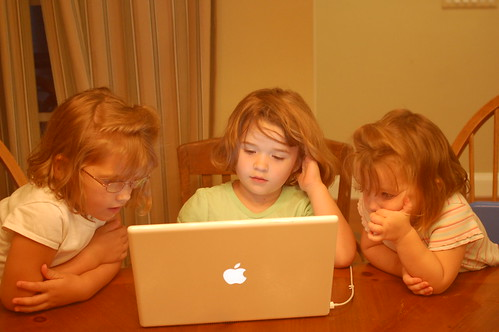 Hersman Girls - Already on Computers...