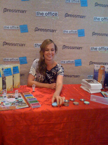 melora hardin jan. Melora Hardin, Jan from The Office, at the NBC Store