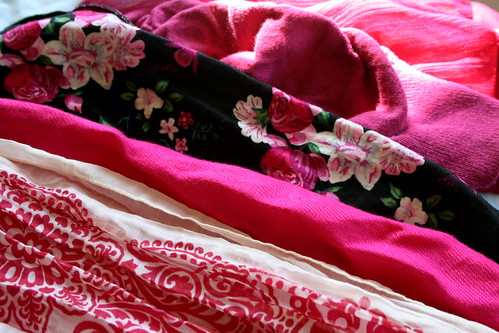 Fuschia Scarves and Tops