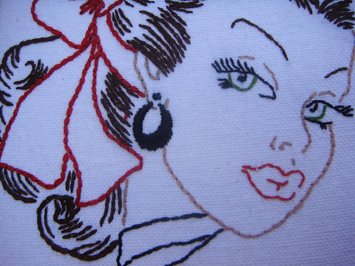 Woman Circa 1950 canvas close up