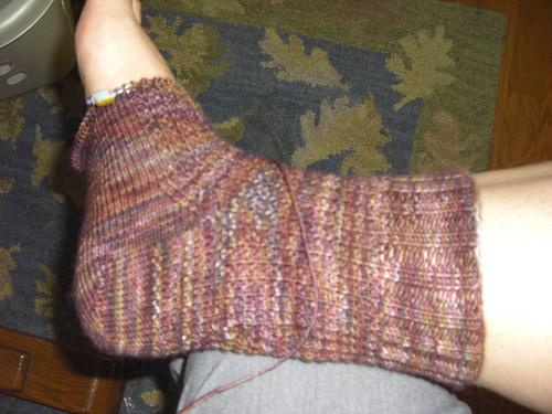 RIngwood Sock Progress