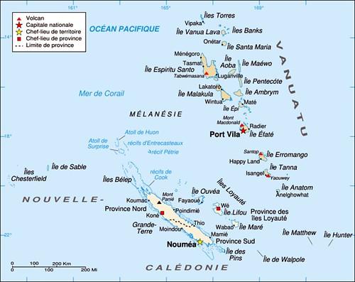 Map Of Vanuatu. 5 map vanuatu newcaledonia fun