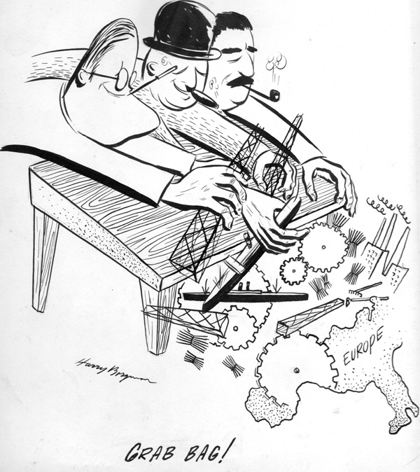 35-2 POLITICAL CARTOON 1945