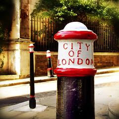 Bollards to Work Experience (hauntedmansion) Tags: london lettering bollard cityoflondon stdunstansintheeast stdunstanshill stephenmay