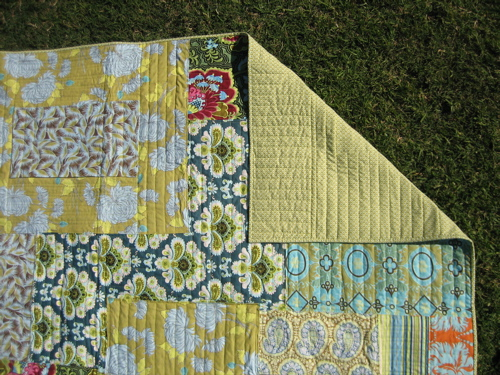 Amy Butler Patchwork Quilt - binding/backing